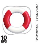 lifebuoy isolated on a white...   Shutterstock .eps vector #1193299264