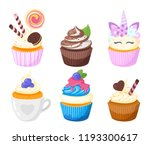 vector cartoon style set of... | Shutterstock .eps vector #1193300617