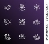 new icons line style set with... | Shutterstock .eps vector #1193304214