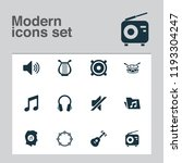 multimedia icons set with mute  ...   Shutterstock .eps vector #1193304247