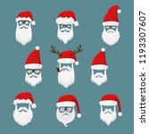 vector santa claus without face ...   Shutterstock .eps vector #1193307607