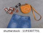 fashion accessories with... | Shutterstock . vector #1193307751