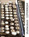 vintage typewriter keyboard... | Shutterstock . vector #1193308264