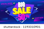 big sale for web app banner.... | Shutterstock .eps vector #1193310901