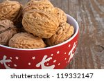 walnuts nuts fruits | Shutterstock . vector #119332147