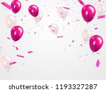 pink white balloons  confetti... | Shutterstock .eps vector #1193327287