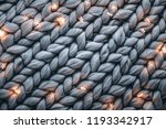 christmas lights on warm woolen ... | Shutterstock . vector #1193342917