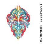 gouache paint desing element... | Shutterstock . vector #1193343031