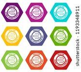 metal heater icons 9 set... | Shutterstock .eps vector #1193348911