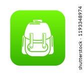 rucksack icon green vector... | Shutterstock .eps vector #1193348974