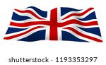 waving flag of the great... | Shutterstock . vector #1193353297