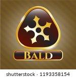 shiny emblem with ninja star... | Shutterstock .eps vector #1193358154