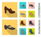 vector illustration of footwear ... | Shutterstock .eps vector #1193358544
