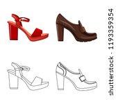 vector illustration of footwear ... | Shutterstock .eps vector #1193359354