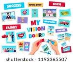 dreams vision board concept... | Shutterstock .eps vector #1193365507