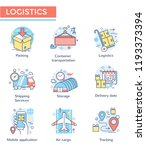 logistics concept icons  thin... | Shutterstock .eps vector #1193373394