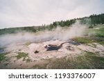 young hopeful geyser in...   Shutterstock . vector #1193376007