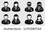 medical team icon on gray... | Shutterstock .eps vector #1193384764