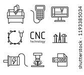 vector set of cnc milling... | Shutterstock .eps vector #1193385034