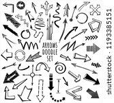 arrows hand drawn variations.... | Shutterstock .eps vector #1193385151
