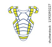 baseball chest protector icon.... | Shutterstock .eps vector #1193393227