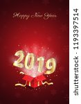 happy new year 2019 card vector ...   Shutterstock .eps vector #1193397514