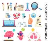 nanotechnologies decorative... | Shutterstock .eps vector #1193399077