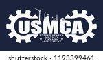 usmca   united states mexico... | Shutterstock .eps vector #1193399461