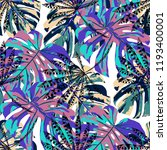 tropical trees. seamless... | Shutterstock .eps vector #1193400001