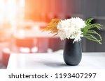 white mums or chrysanthemums...   Shutterstock . vector #1193407297