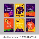 halloween party invitations or...   Shutterstock .eps vector #1193409904