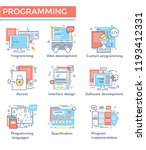 programming concept icons  thin ... | Shutterstock .eps vector #1193412331