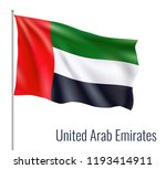 realistic flag on white... | Shutterstock .eps vector #1193414911