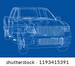 car suv drawing outline. vector ... | Shutterstock .eps vector #1193415391