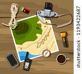 camping equipment   map ...   Shutterstock .eps vector #1193422687
