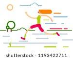 running woman illustration   Shutterstock .eps vector #1193422711