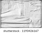 blank empty creased crumpled... | Shutterstock . vector #1193426167