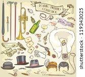 roaring twenties collection ...   Shutterstock .eps vector #119343025