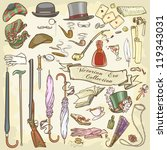 victorian era collection  lady... | Shutterstock .eps vector #119343031