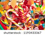 different colorful fruit candy | Shutterstock . vector #1193433367