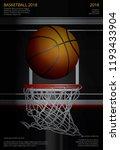 basketball poster advertising... | Shutterstock .eps vector #1193433904