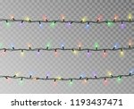 christmas lights string vector... | Shutterstock .eps vector #1193437471