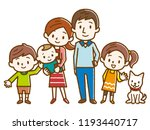 illustration of a happy family | Shutterstock .eps vector #1193440717