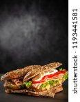 classic blt sandwiches | Shutterstock . vector #1193441581