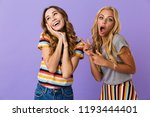 two pretty young girls friends... | Shutterstock . vector #1193444401