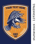 badge eagle and shield | Shutterstock .eps vector #1193445961