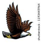bald eagle flying mascot | Shutterstock .eps vector #1193445964