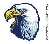 bald eagle head | Shutterstock .eps vector #1193445967