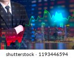 showing the trading graph over... | Shutterstock . vector #1193446594