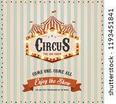 carnival banner. circus. fun... | Shutterstock . vector #1193451841
